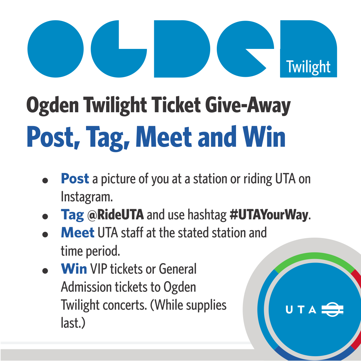 UTA's Ogden Twilight Ticket Giveaway